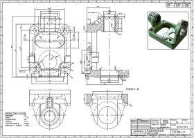 Holder Gabelstüc A16 065 A17 Zeichnung